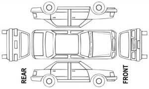 Vehicle Damage Diagram